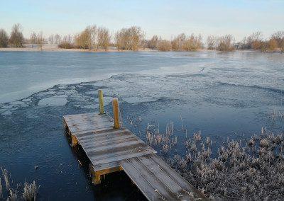 Winterstimmung Urlaub im Haus am See